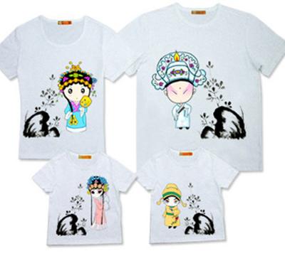 个性创意亲子装t恤衫图案设计制作