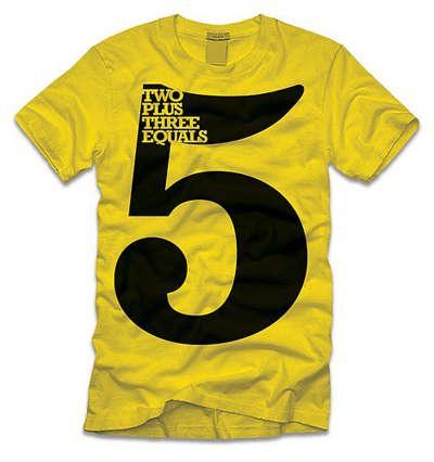 国外创意文字排版的t恤设计欣赏